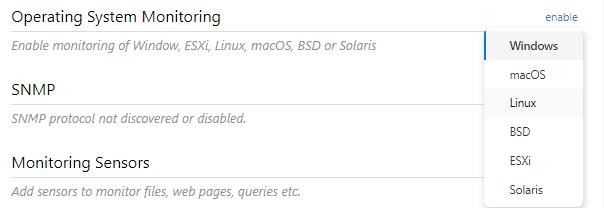 Operating System Monitoring