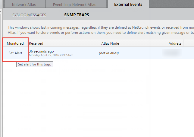 Monitoring External Events in NetCrunch